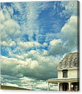 Farmhouse By Cornfield Acrylic Print
