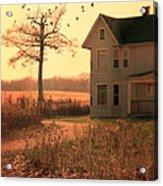 Farmhouse By Tree Acrylic Print