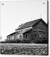 farmhouse in spring - Old Barns Acrylic Print