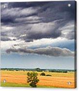 Farmhouse In The Storm Panorama Acrylic Print