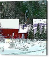 Farmhouse In Winter Acrylic Print