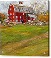 Red Barn Art- Farmhouse Inn At Robinson Farm Acrylic Print