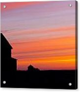 Farmhouse Silhouette Acrylic Print by Gerald Murray Photography