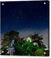 Farmhouse Star Trails.  Acrylic Print