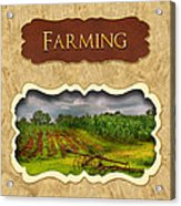 Farming And Country Life Button Acrylic Print