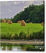 Farming Reflection Acrylic Print