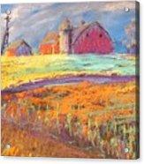 Farmland Sunset Acrylic Print