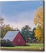 Farmstead With Fall Colors Acrylic Print by Paul Freidlund