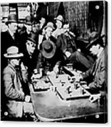 Faro Game Orient Saloon C. 1900 - Arizona Acrylic Print