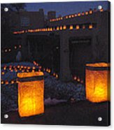 Farolitos Or Luminaria On Wall Acrylic Print