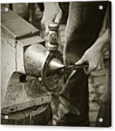 Farrier Making Horseshoe Acrylic Print