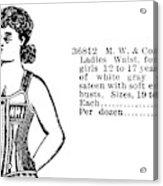 Fashion Corset, 1895 Acrylic Print