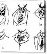 Fashion Cravats And Ties Acrylic Print