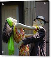 Fashion Dolls Dancing Acrylic Print