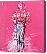 Fashion Figure Acrylic Print