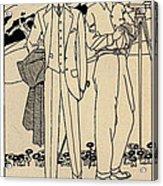 Fashion For Men Circa 1915 Acrylic Print