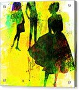 Fashion Models 2 Acrylic Print