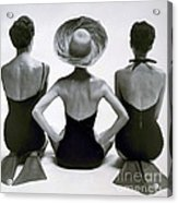 Fashion Models In Swim Suits, 1950 Acrylic Print