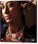 Fashionable Woman Portrait Acrylic Print