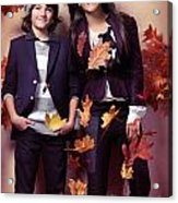 Fashionably Dressed Boy And Teenage Girl Fall Fashion Acrylic Print