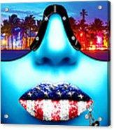Fashionista Miami Blue Acrylic Print