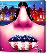 Fashionista Miami Pink Acrylic Print