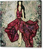 Fashionista Mixed Media Painting By Janelle Nichol Acrylic Print