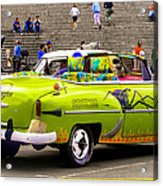 Fast And Furious In Cuba Acrylic Print