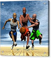 Fast Break On An Even Playing Field Acrylic Print