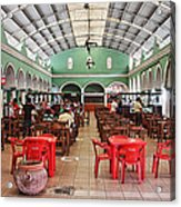Fast Food Hall In Valladolid Acrylic Print
