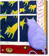 Fat Inside Cat - Why Fluffie Can Not Possibly Go Out Acrylic Print