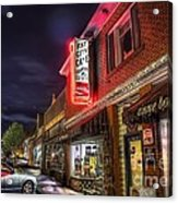 Fat City Cafe Acrylic Print