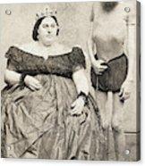 Fat Lady & Thin Man Acrylic Print