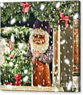 Father Christmas In The Snow Acrylic Print