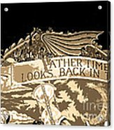 Father Time Looks Back Acrylic Print