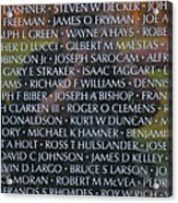 Fathers Sons And Brothers Of The Wall Acrylic Print