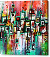 Favelas - Abstract Art By Laura Gomez Acrylic Print