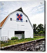 Fayette Farmers Daughter Quilt Barn Acrylic Print