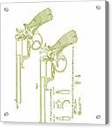 F.b.e Beaumont Revolver Patent Acrylic Print