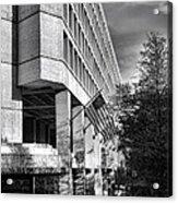 Fbi Building Modern Fortress Acrylic Print