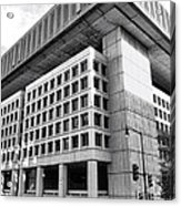 Fbi Building Rear View Acrylic Print