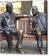 Fdr And Churchill Having A Chat In London Acrylic Print