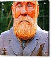 Fear The Beard Golfer Acrylic Print