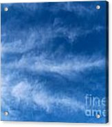 Feather Clouds On Blue Sky Acrylic Print