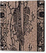 Feathers Thorns And Broken Arrow Bookmark No1 Acrylic Print