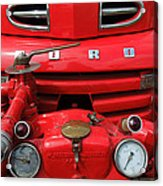Featured Old Ford  Front On Fire Engine Denmark  Acrylic Print