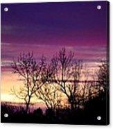 February's Dramatic Sunrise Acrylic Print