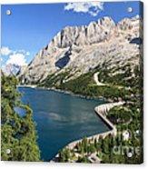 Fedaia Pass With Lake Acrylic Print