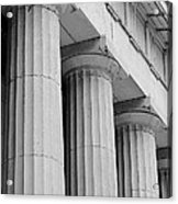 Federal Hall Columns Acrylic Print