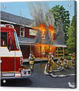 Feed Store Fire Acrylic Print